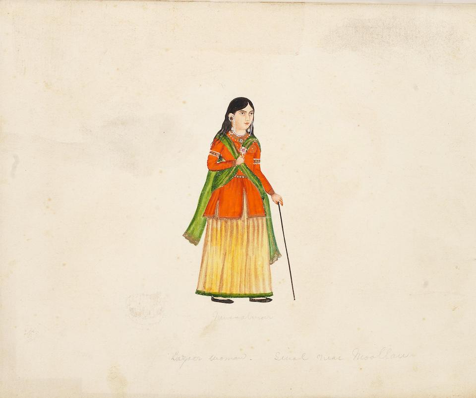 Five studies of women North India or Punjab, mid-19th Century(5)