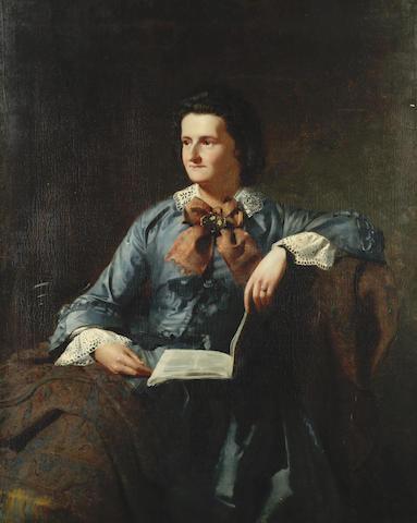James Hayllar, RBA (British, 1829-1920) Portrait of the artist's wife