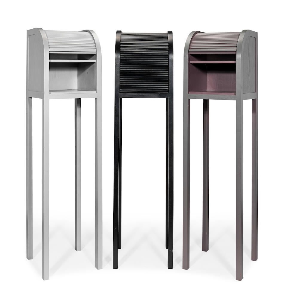 Shiro Kuramata (Japanese, 1934-1991) for Memphis Three 'Imperial' Cabinets, designed 1981