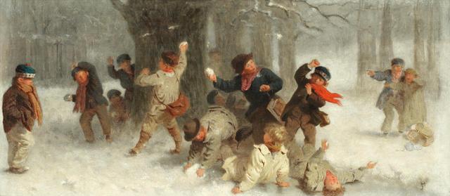 John Morgan, RBA (British, 1823-1886) The mêlée