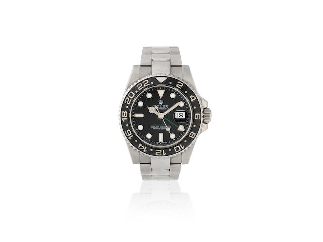 Rolex. A stainless steel automatic calendar bracelet watch  GMT Master II, Ref: 11671OLN, Sold 19th October 2010