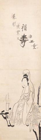 Hakuin Ekaku (1685-1768) Hakue Kannon (White-robed Kannon) Edo period (1615-1868), mid-18th century (3)