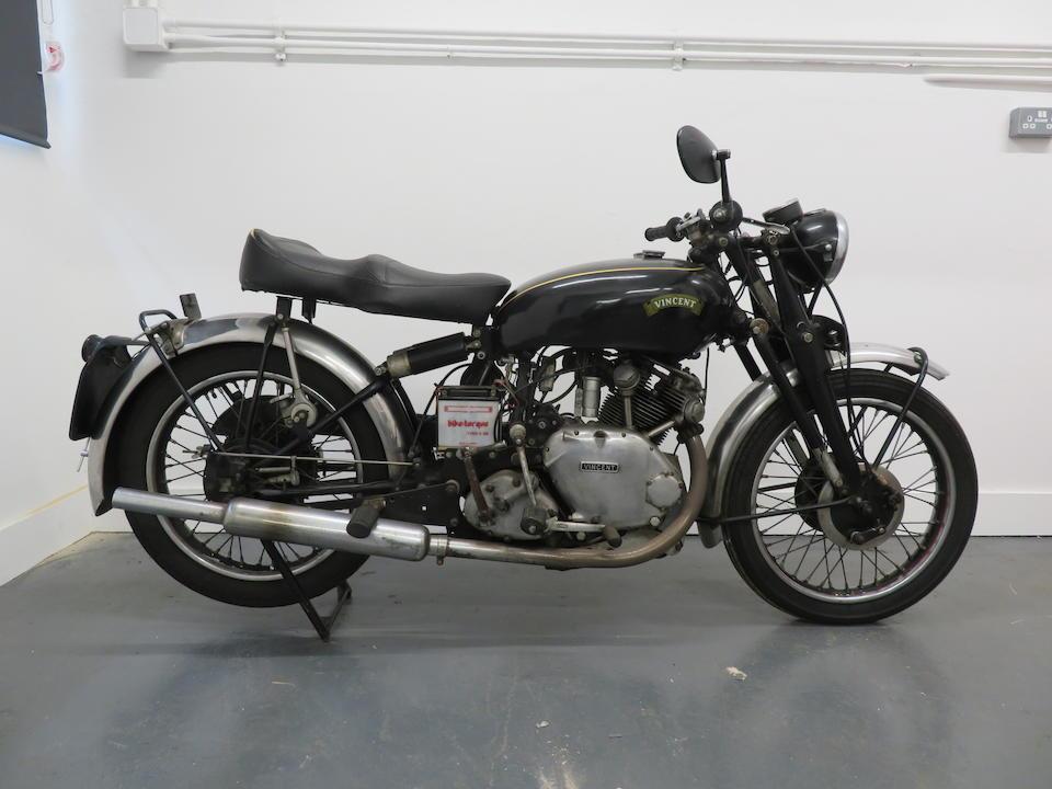 1951 Vincent 499cc Series C Comet Frame no. RC/1/7428 Rear Frame No. RC/1/7428 Engine no. F5AB/2A/5528 Crankcase Nos. 30R/30R