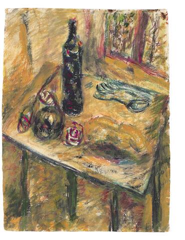 Vladimir Igorevich Yakovlev (Russian, 1934-1998) Still life with a table unframed