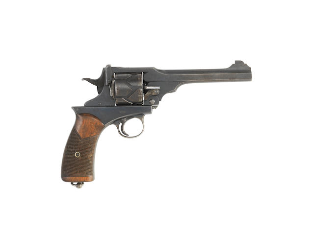 A .455 Webley Fosbery Patent 1901 Model recoil-operated revolver, no. 725...