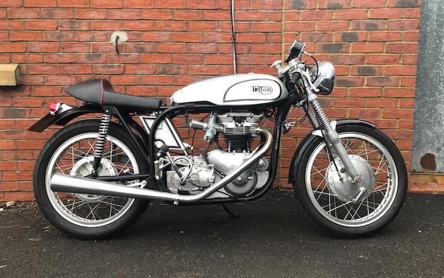 1958 Triton 650cc Café Racer Frame no. N14 76524 Engine no. T110 56298