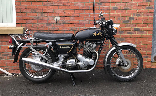 1972 Norton 745cc Commando Roadster Frame no. 230663 Engine no. 20M3S 230663