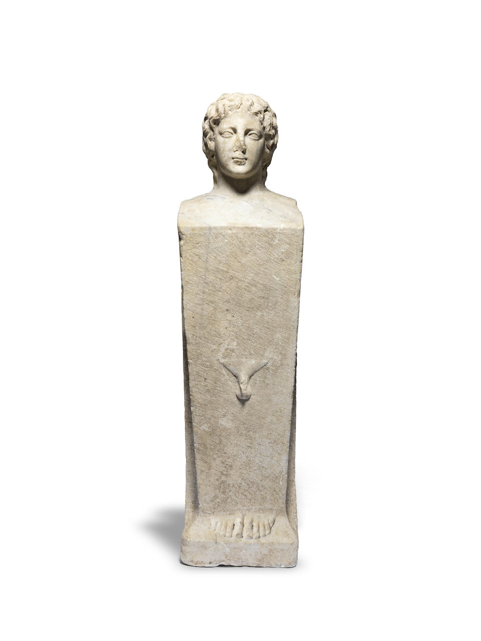 A Roman marble herm with the head of Alexander the Great