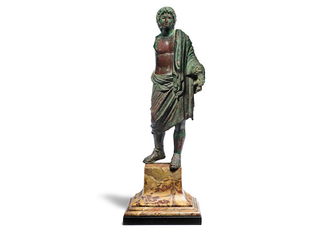 A large Graeco-Roman bronze statue of Alexander the Great