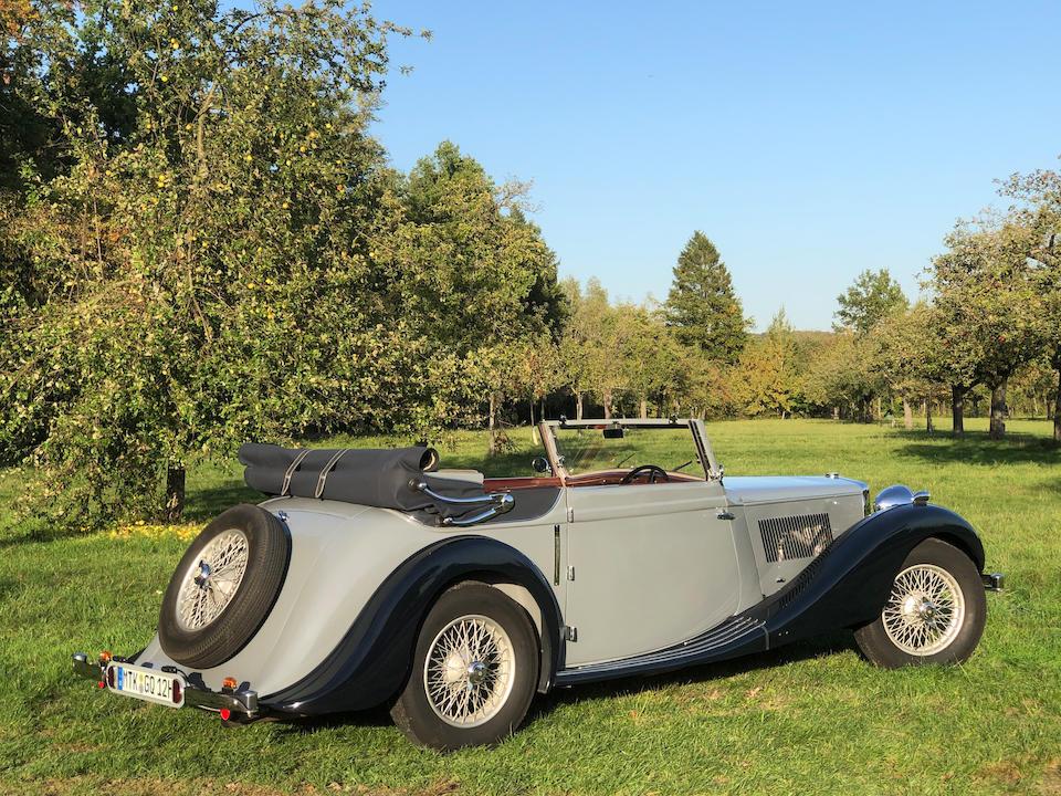 1938 MG SA Three-position Drophead Coupé  Chassis no. S2674