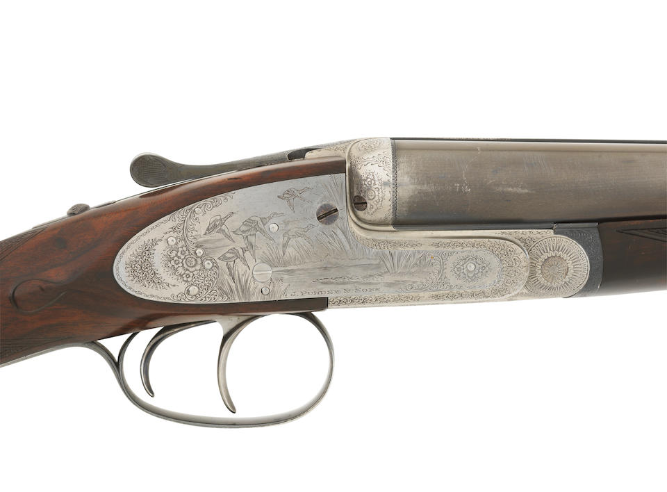 A pair of Kell-engraved 16-bore self-opening sidelock ejector guns by J. Purdey & Sons, no. 25321/2 In a relined brass-mounted oak and leather case with replacement J. Purdey & Sons trade-label