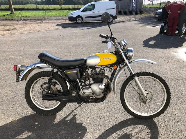 1974 Triumph 490cc TR5T Trophy Trail Frame no. HJ56642 Engine no. HJ56642