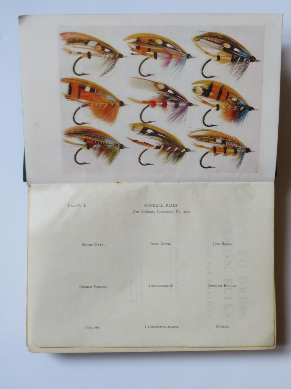 A large framed display of 100 fully-dressed Salmon flies after T.E. Pryce-Tannant and by Anthony Townsend