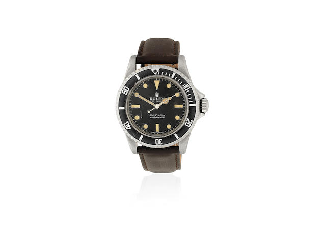 Rolex. A stainless steel automatic wristwatch  Submariner, Ref: 5513, Circa 1966