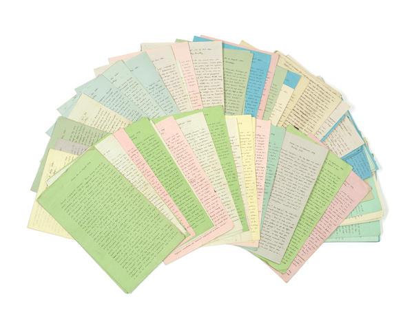 "VARNHAGEN VON ENSE (KARL AUGUST) Series of some three hundred and fifty autograph letters, mostly signed (""Varnhagen von Ense""), to Charlotte Williams Wynn, 29 September 1836 to 6 September 1858"