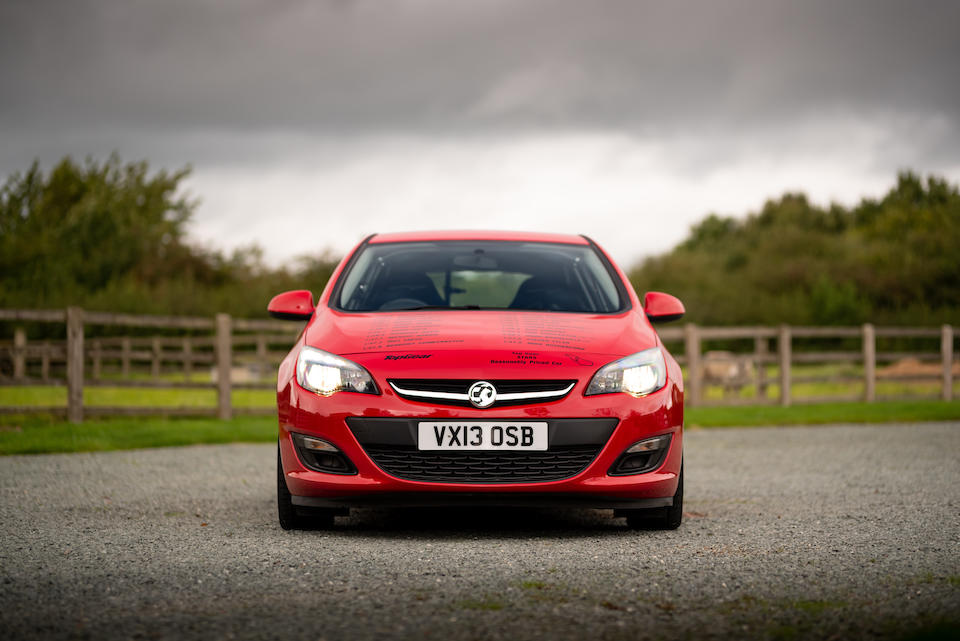 Ex-Top Gear 'Reasonably Priced Car' 2013 Vauxhall Astra  Chassis no. W0LPD6ED0D8061050