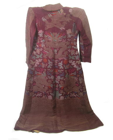 A re-modelled court robe 19th century with later alterations
