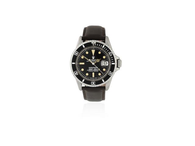 Rolex. A stainless steel automatic calendar wristwatch  Submariner, Ref: 1680, Circa 1968