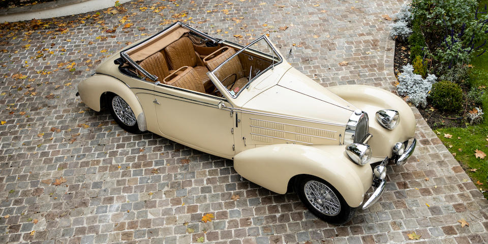 One of the very last pre-war Bugattis produced before the outbreak of WWII, only 45 708 kilometers from new,,1939 Bugatti Type 57 Cabriolet  Chassis no. 57836 Engine no. 93C