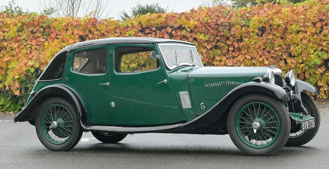 1935 Riley 9hp Kestrel Saloon  Chassis no. 6027175