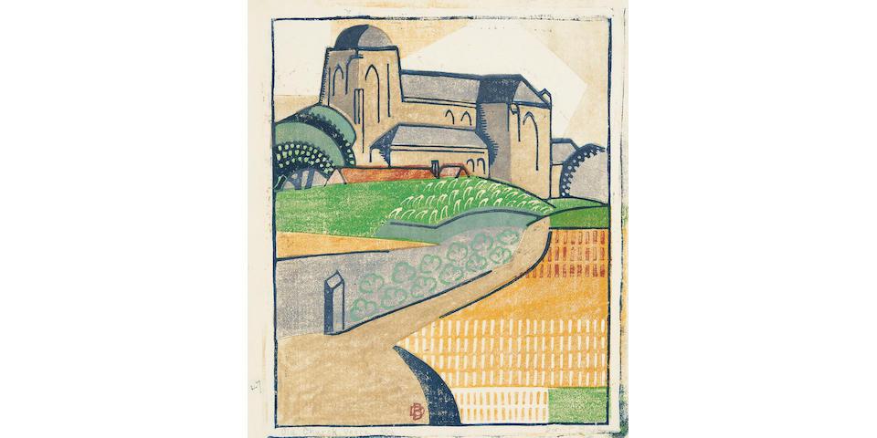 Dorrit Black (1891-1951) Old Church, Veere, c.1933