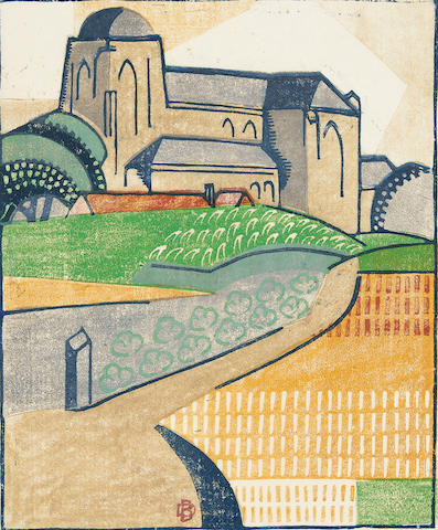 Dorrit Black (1891-1951) Old Church, Veere, c.1933