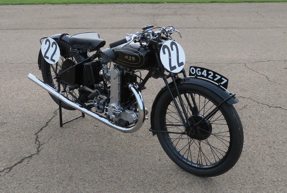 Offered directly from the estate of the late Les Williams, 1930 AJS 346cc R7 Racing Motorcycle Frame no. 145260 Engine no. 145260