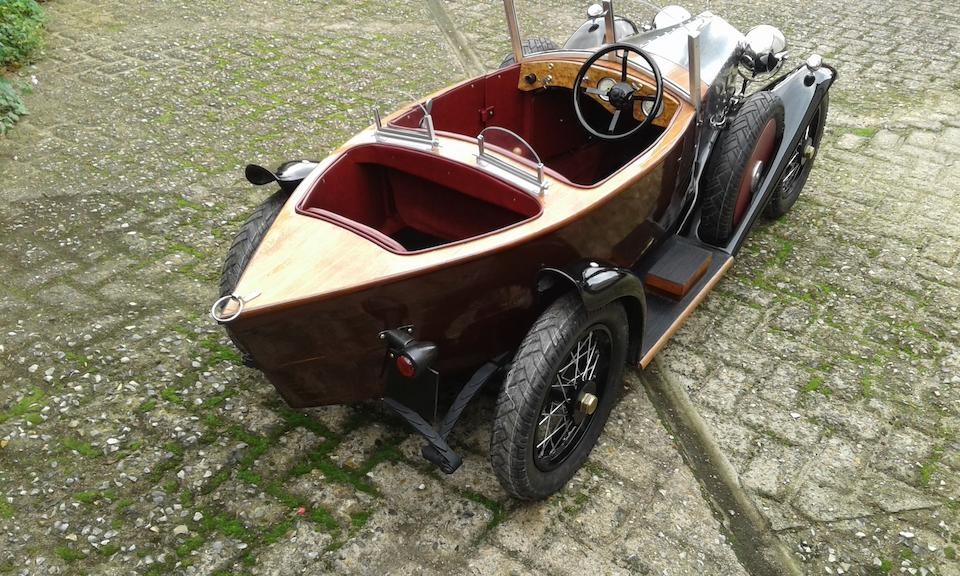 A child's car modelled as 'skiff-bodied' 1922 Rolls-Royce Silver Ghost,