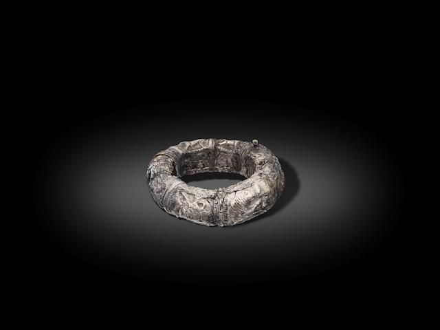 A Roman silver bracelet