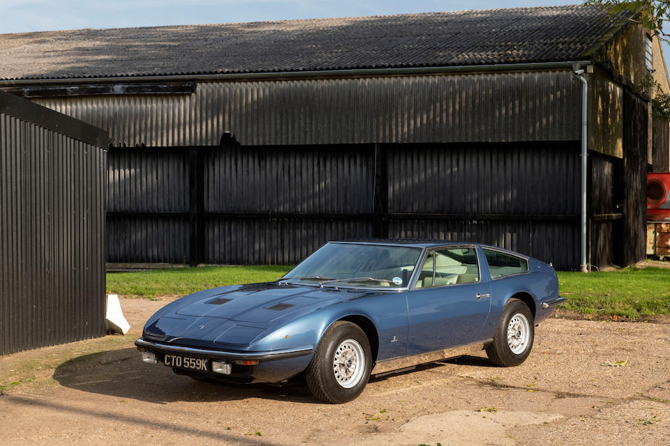 One owner from new, 1972 Maserati Indy America 4.2-Litre Coupé  Chassis no. AM116/1.1646