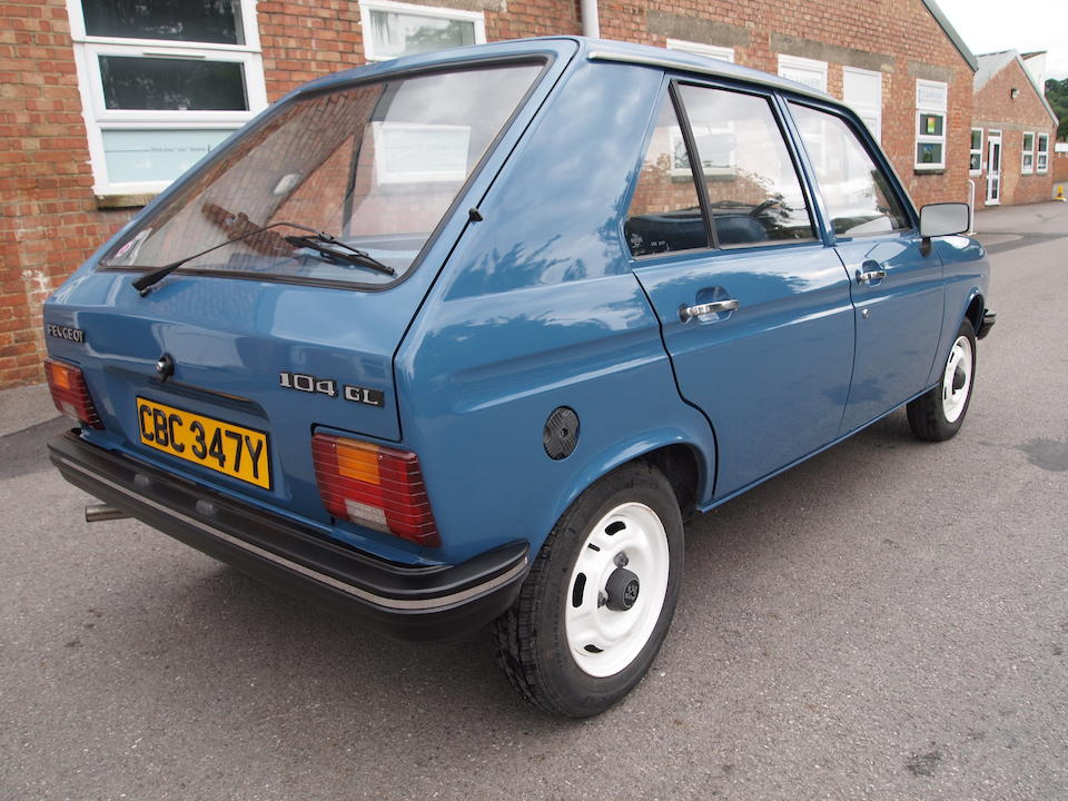 1983 Peugeot 104 GL  Chassis no. VF3104A4106266866