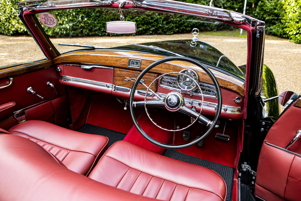 Exceptionally rare UK right-hand drive model,1953 Mercedes-Benz 300 Cabriolet  Chassis no. 186014-3501890