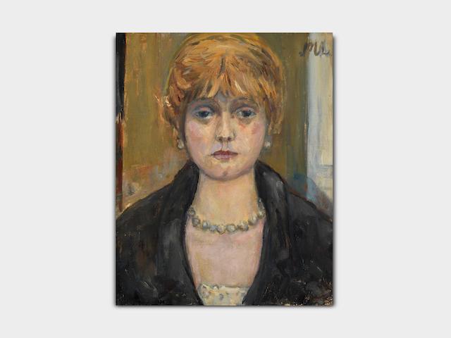 Mikhail Fedorovich Larionov (Russian/French, 1881-1964) Tête de jeune fille