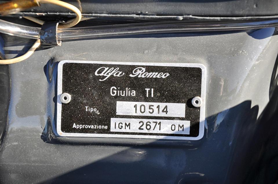 1963 Alfa Romeo Giulia TI Sports Saloon  Chassis no. AR 420971