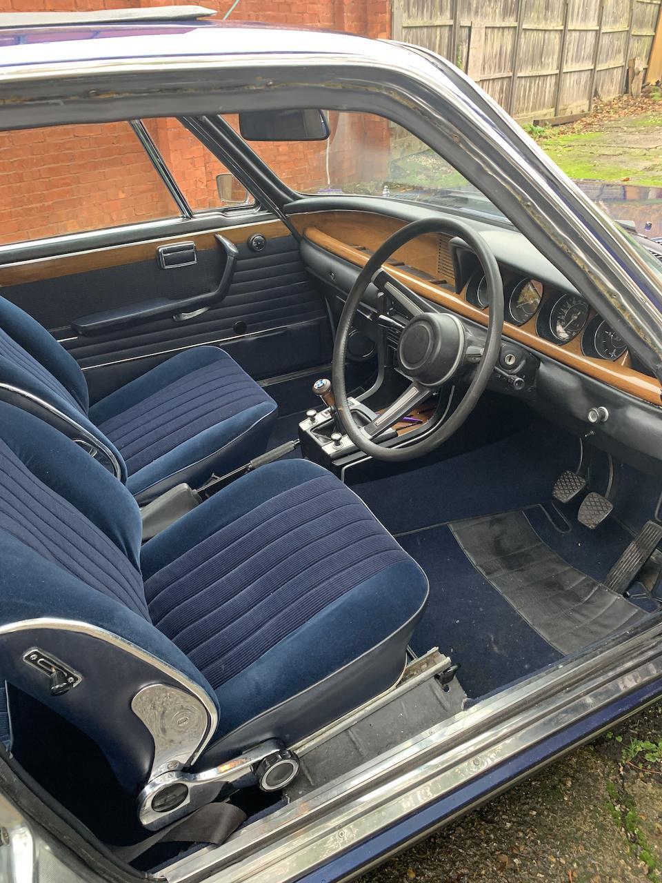 1972 BMW 3.0 CSi Coupé  Chassis no. 2262705