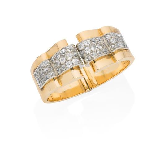 A diamond cuff,