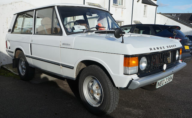 1972 Land Rover Range Rover  Chassis no. 35503993A