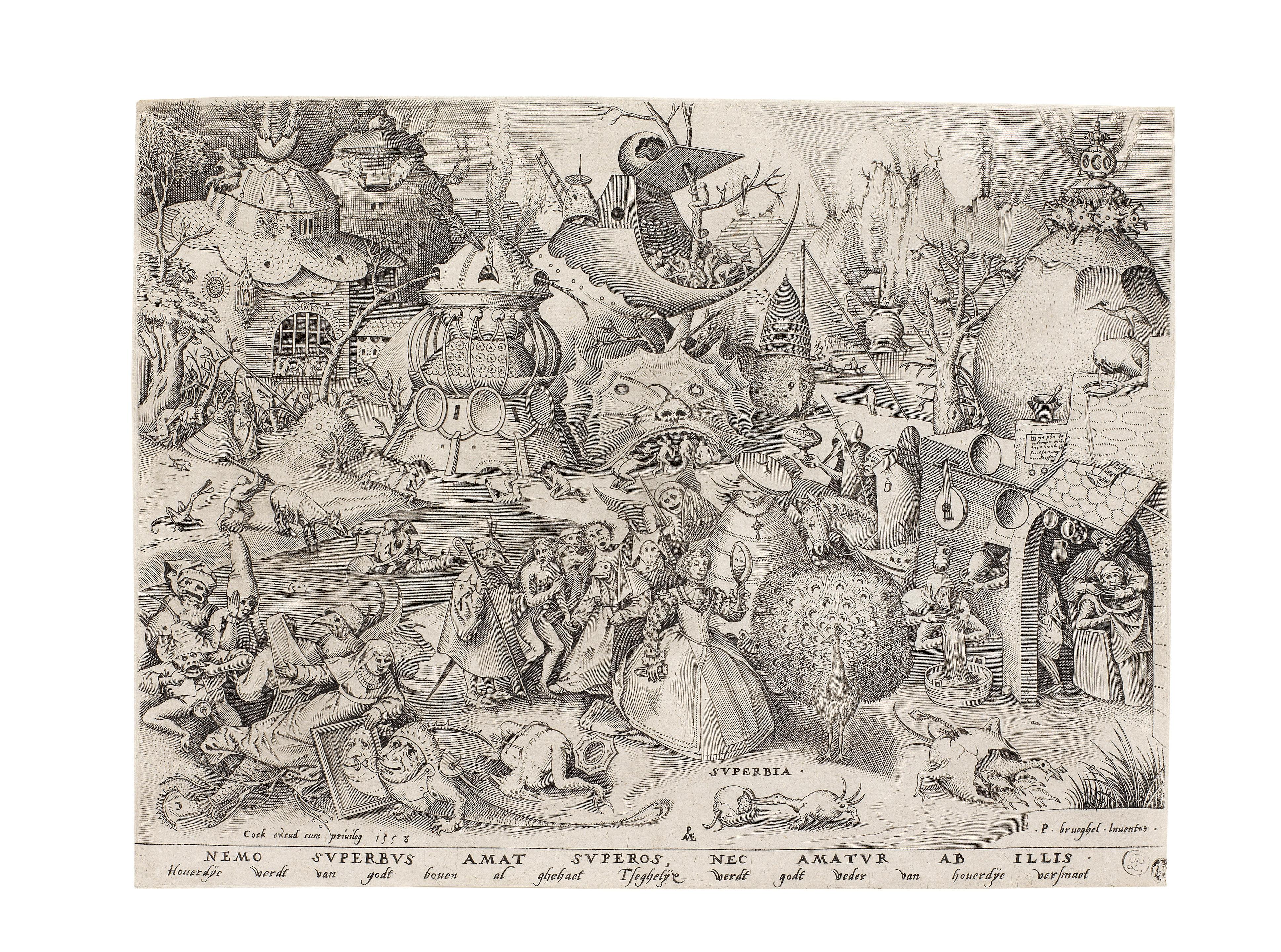 Pieter Bruegel the Elder Gula Wall Art Poster Print