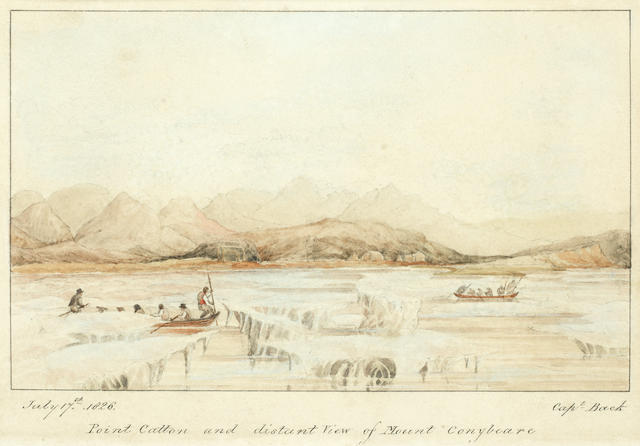 Admiral Sir George Back (British, 1796-1878) 'Point Catton and the distant view of Mount Conybeare' unframed