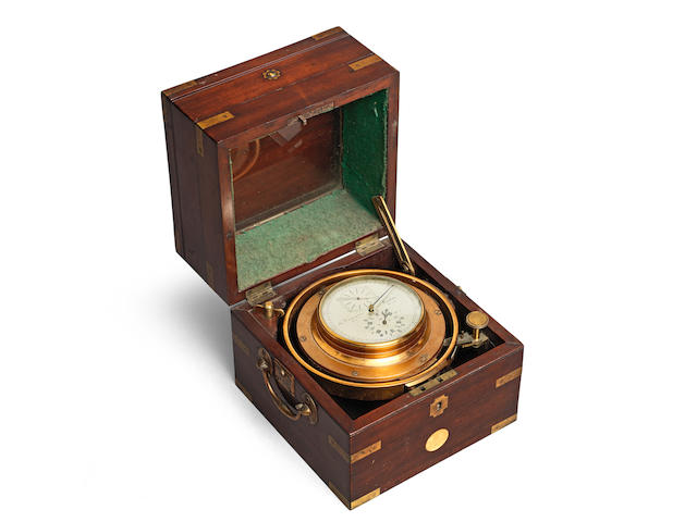 A very rare first quarter of the 19th century one day marine chronometer with special duplex chronometer escapement, in mahogany box by Thomas Cummins Snr, London c.1823 Thomas Cummins Senior, London, No.18-23