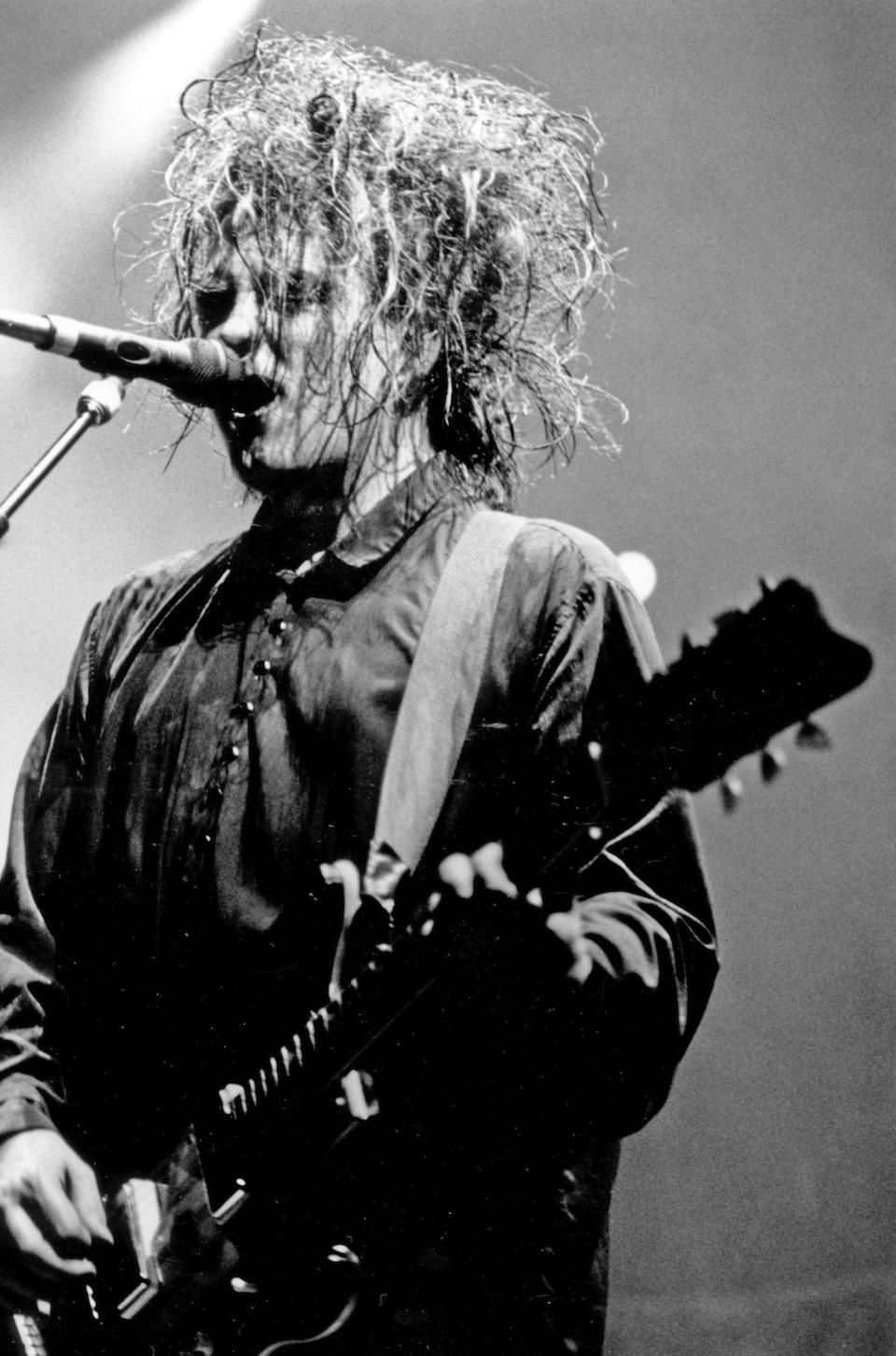The Cure/Robert Smith: a hand-made shirt worn by Robert Smith during the band's 'Prayer Tour' in 1989 and the 'Disintegration' shows at Sydney Opera House in 2019, 1989-2019,