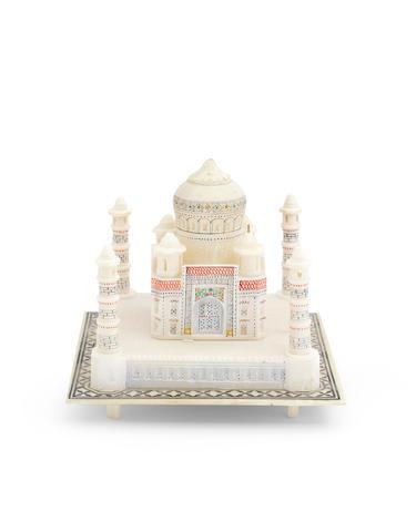 An Alabaster model of the Taj Mahal India, 20th century
