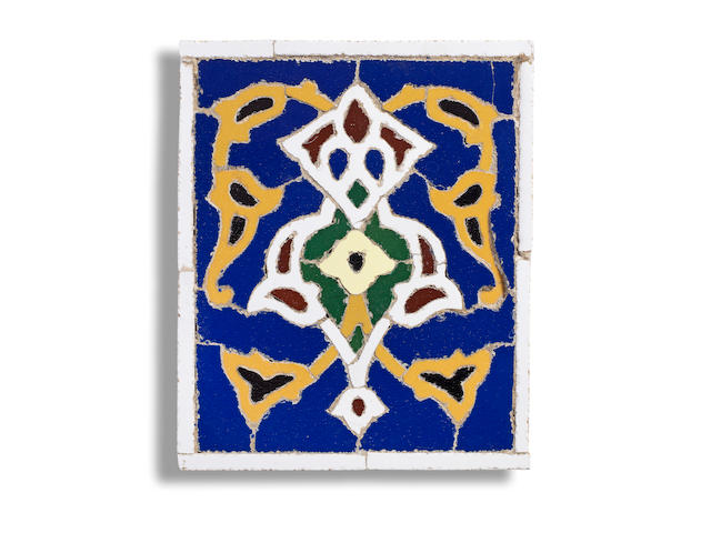 A pottery mosaic tile Persia, 20th Century