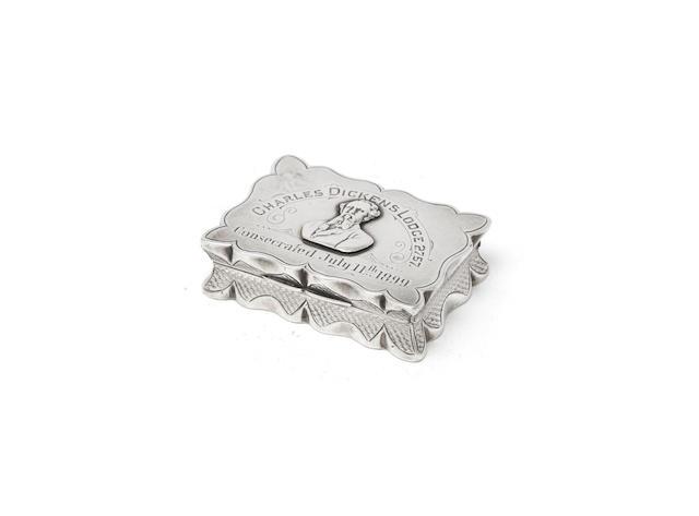 Masonic Interest: a Victorian silver box Cohen & Charles, Birmingham 1899