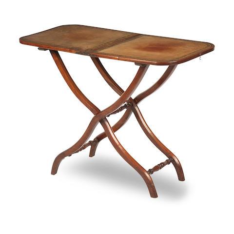 A 19th century mahogany folding table