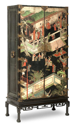 An 18th century and later Chinese wardrobe