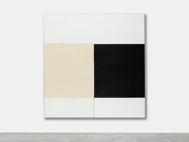 Callum Innes (B. 1962) Exposed Painting Ivory Black Yellow Oxide, 2000
