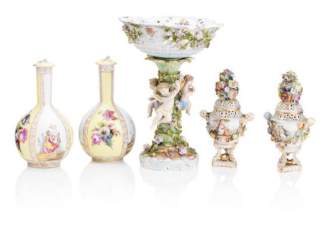 A group of Dresden porcelain Circa 1900