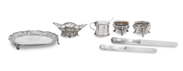 A collection of antique silver  various makers and dates