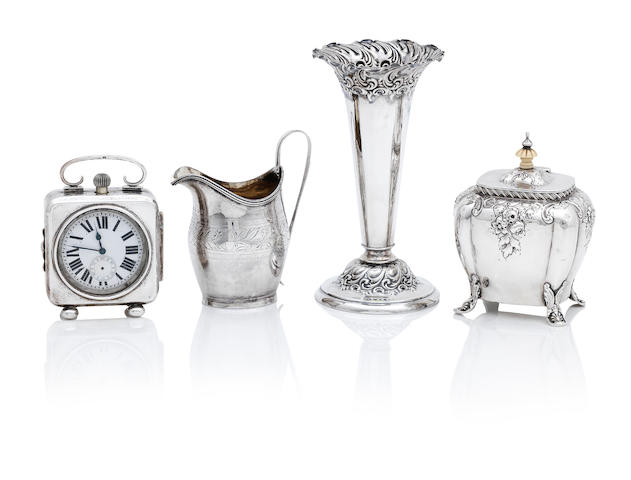 A collection of silver items various makers and dates